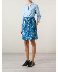 ODEEH - Blue Three-Quarter Sleeve Shirt - Lyst