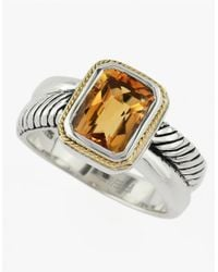 Effy | Metallic Balissima 18kt. Yellow Gold And Sterling Silver Citrine Ring | Lyst