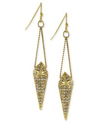 BCBGeneration | Metallic Crystal Pavé Spike Drop Earrings | Lyst