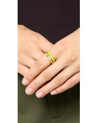 Marc By Marc Jacobs - Yellow Hula Hoop Ring Set Black - Lyst