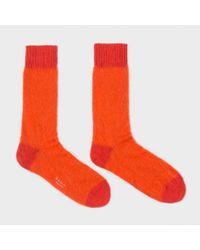 Paul Smith Men's Orange Kid Mohair Socks for men