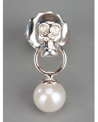 Delfina Delettrez - Metallic Skull Earrings - Lyst