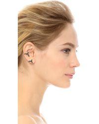 Noir Jewelry Metallic Brazil Earrings - Gold Multi