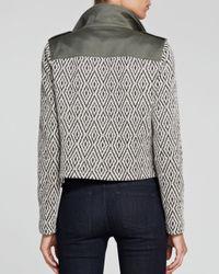 Ella Moss Natural Jacket - Minka Jacquard Sleeve