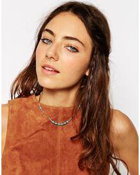ASOS | Blue Summer Bead Choker Necklace | Lyst