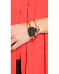 By Malene Birger Black Orchestra Bracelet Set - Gold Multi