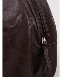 TOPMAN - Red Burgundy Leather Look Sports Holdall for Men - Lyst