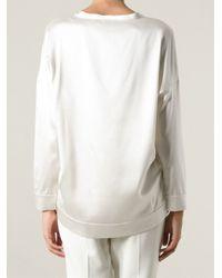 Brunello Cucinelli White Lightweight Sweater