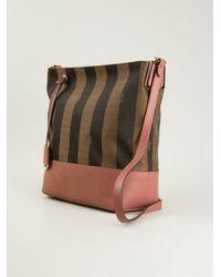 Fendi - Multicolor Pequin Shoulder Bag - Lyst
