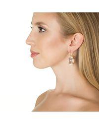 Asha | Metallic Camilla Pave Earrings | Lyst