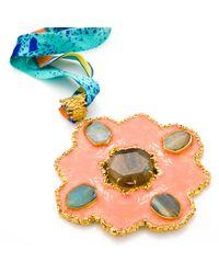 Tilayo | Multicolor Orange Medallion Necklace | Lyst