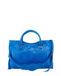 Balenciaga - Blue Classic City Tote - Lyst