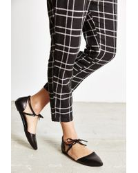 Jeffrey Campbell - Black Enamored Cutout Flat - Lyst