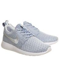 Nike Blue Roshe Run Flyknit (w)