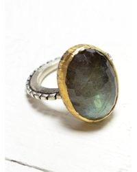 Peculiar Vintage - Metallic Pallenberg: Large Labradorite Cocktail Ring - Last One - Lyst