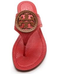Tory Burch Red Lousia Thong Sandals Jaspernew Tan