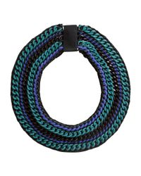 H&M - Black Wide Necklace - Lyst