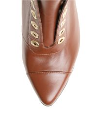 William Rast Brown Carly Grommet Ankle Boots