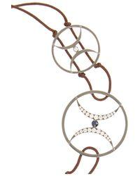 Zeus+Dione - Metallic Oxidized Silver, Diamond And Sapphire Bracelet - Lyst