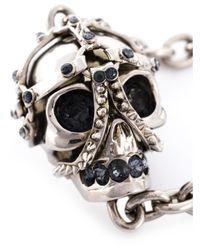 Alexander McQueen | Metallic Harness Skull Pendant Necklace | Lyst