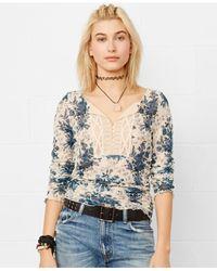 Denim & Supply Ralph Lauren Multicolor Lace Floral Henley