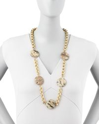Devon Leigh | Multicolor Animal-Spotted Coin Necklace | Lyst