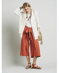 Free People | Natural Womens Doiley Cardi | Lyst