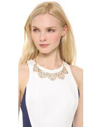 Alexis Bittar Metallic Mosaic Lace Bib Necklace