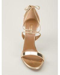 Aquazzura Metallic 'linda' Sandal