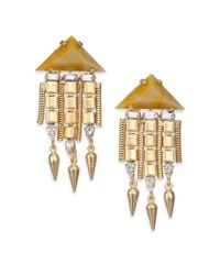 DANNIJO | Metallic Ayla Crystal Drop Earrings | Lyst