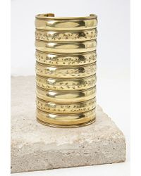 Forever 21 Metallic Etched Arm Cuff