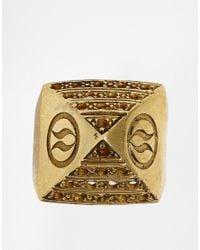 Love Bullets - Metallic Lovebullets Pyramid Ring for Men - Lyst