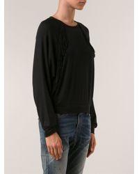 Riller & Fount - Black Fringe Sweatshirt - Lyst