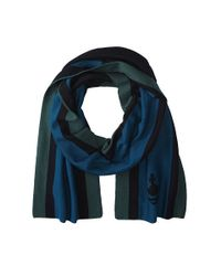Vivienne Westwood Blue Striped Scarf for men