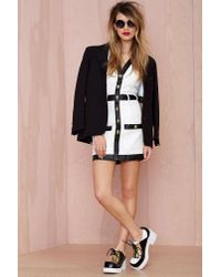 Nasty Gal White Channelling Quilted Dress