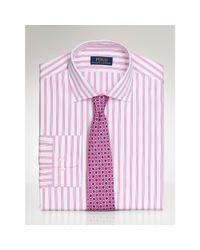 Polo Ralph Lauren | Pink Striped Poplin Regent Shirt for Men | Lyst