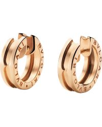 BVLGARI | Bzero1 18ct Pink-gold Hoop Earrings | Lyst