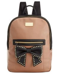 Betsey Johnson | Black Macy's Exclusive Bow Backpack | Lyst