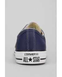 Lyst - Converse Chuck Taylor All Star Leather Low-Top Men S Sneaker ... 69fef44f8