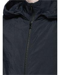 Balenciaga Black Double Layer Windbreaker Jacket for men
