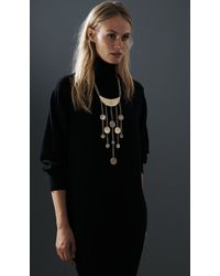 Jenny Bird Metallic Lunadance Necklace