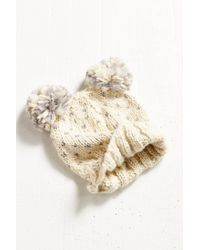 Urban Outfitters - Natural Animal Ears Beanie - Lyst
