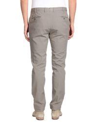 PT01 - Gray Casual Trouser for Men - Lyst