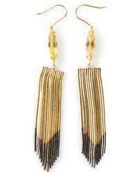 Iosselliani | Metallic Fringed Earrings | Lyst