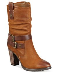 Marc Fisher | Brown Famous Booties | Lyst
