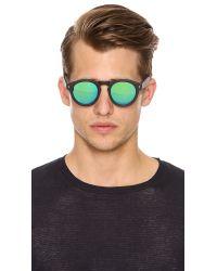 Illesteva Green Leonard Sunglasses for men