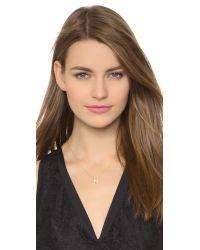 Sarah Chloe | Metallic Diamond Letter Gold Necklace | Lyst