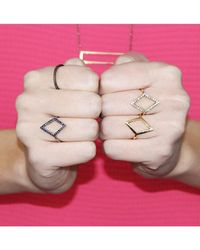 Adornia | Pink Silver And Sapphire Lautrec Ii Ring | Lyst