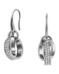 Michael Kors | Metallic Pave Link Drop Earrings | Lyst