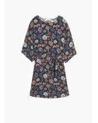 Mango | Black Belt Printed Dress | Lyst